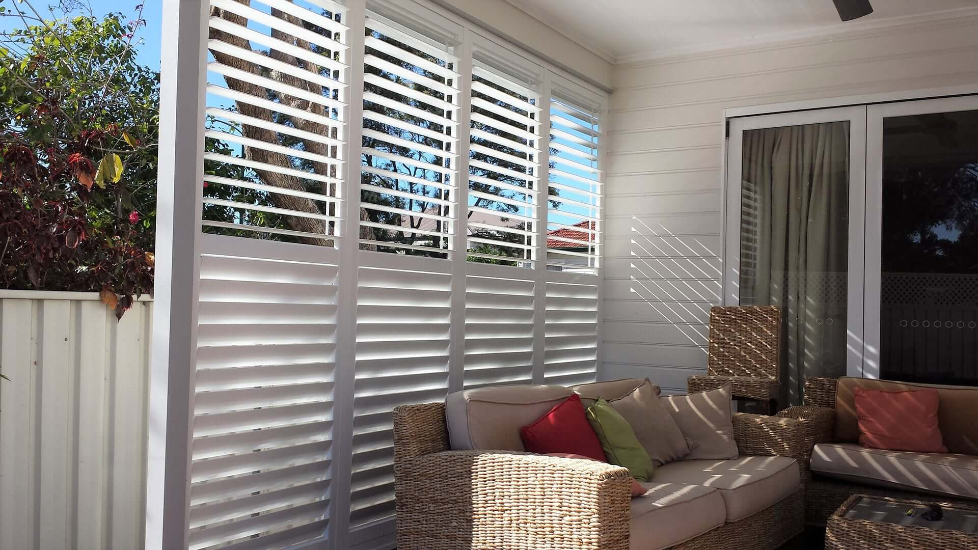 Fixed Panel Shutters Operable Blades