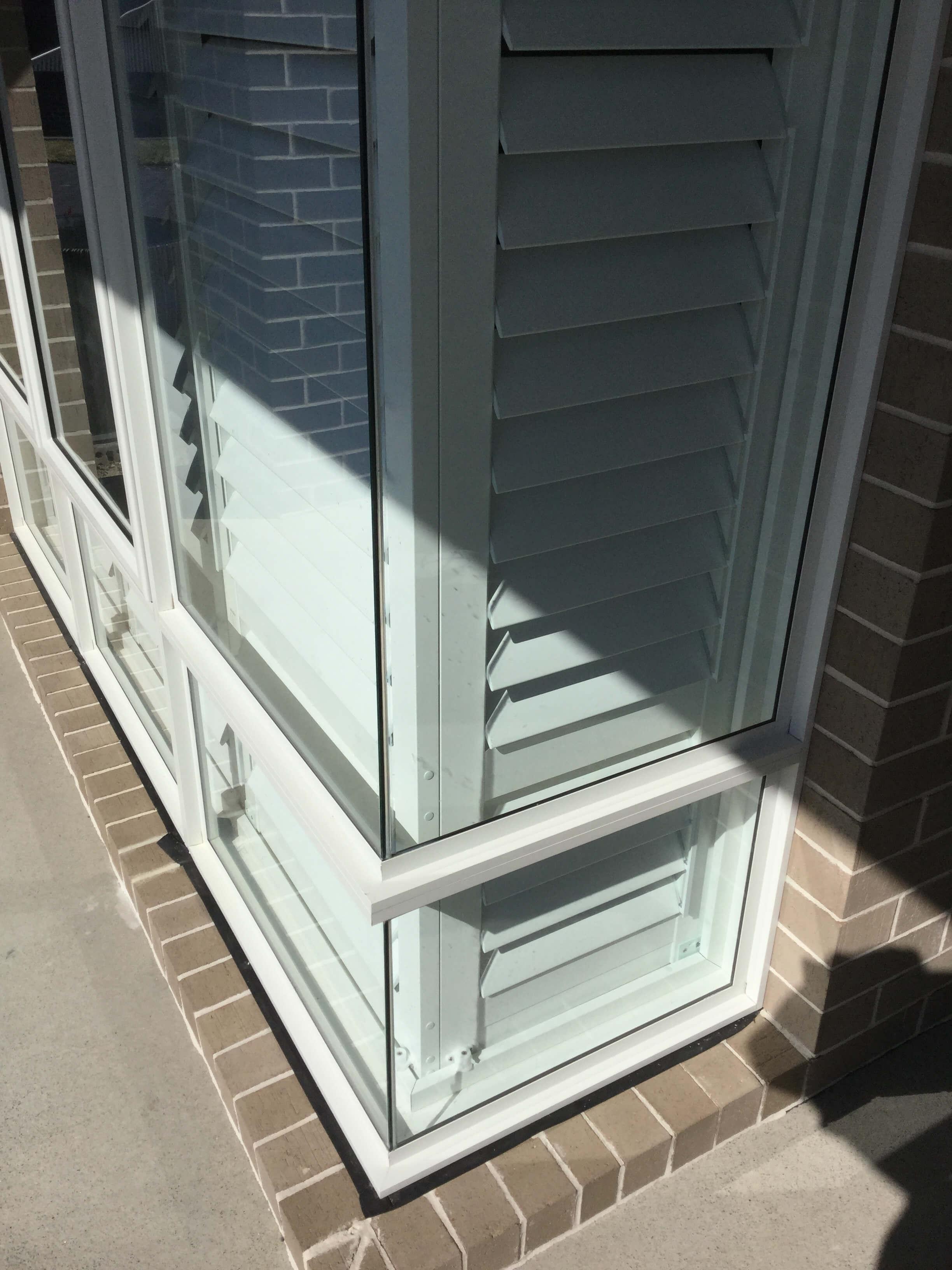 Corner Window Shutters, Interior Shutters, Plantation Shutters