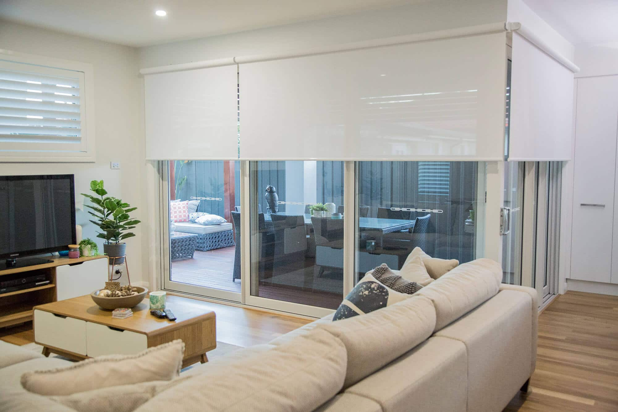 Roller Blinds, Australian Plantation Shutters